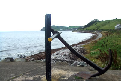 Halfway House Hotel Anchor on Beach